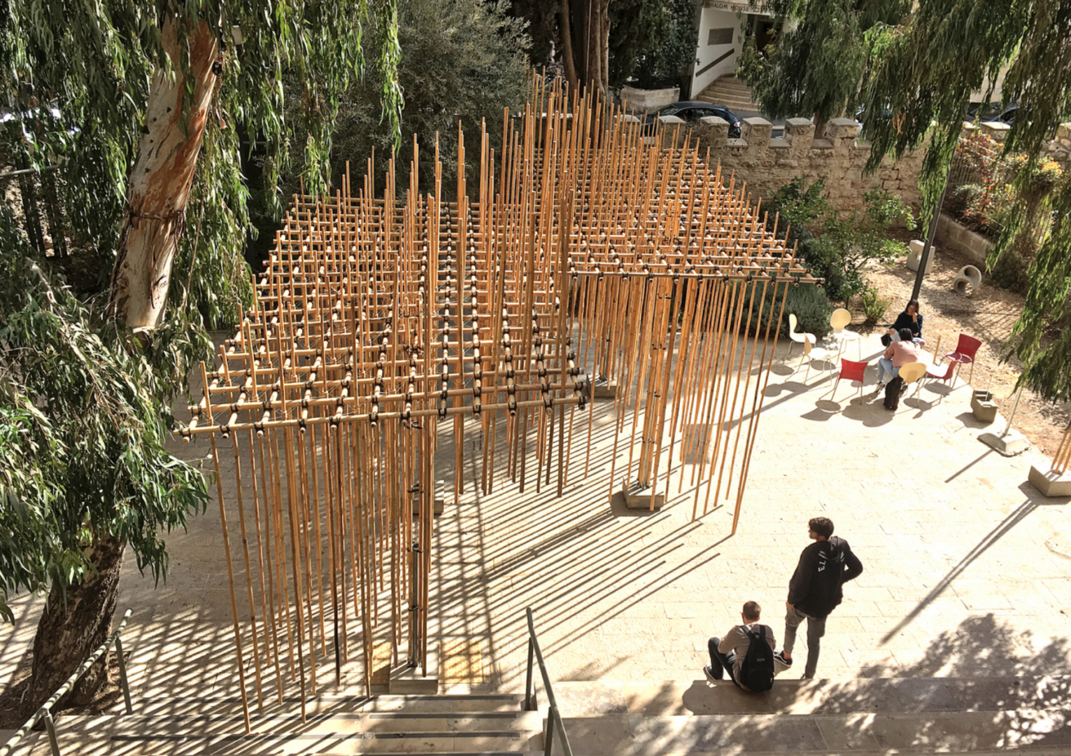 Students Use 3D Printing to Create Suspended Bamboo Pavilion in Jerusalem | All3DP