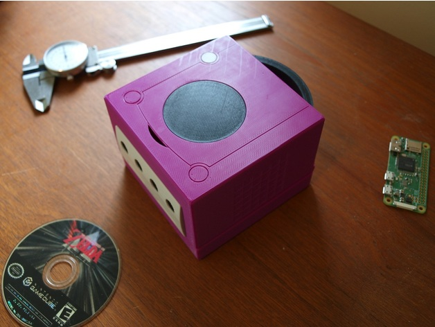 Image of Retropie Case: GameCube Pi Classic (Classic Nintendo Case)