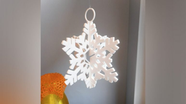 Image of 3D Printed Christmas Decorations: Snowflake Italymaker