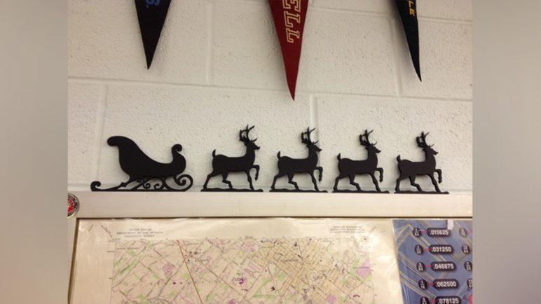 Image of 3D Printed Christmas Decorations: Santa Sleigh & Reindeer Christmas Decoration