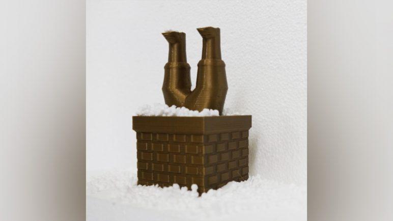 Image of 3D Printed Christmas Decorations: Santa Claus