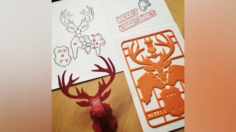 Image of 3D Printed Christmas Decorations: Christmas Reindeer Kit Card