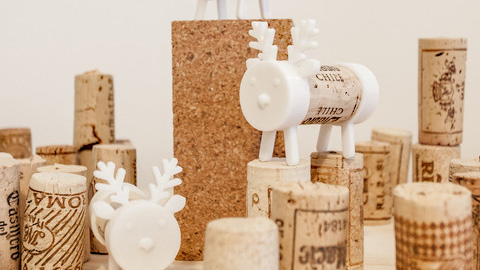 Image of 3D Printed Christmas Decorations: Cork Pals: Frankly My Deer