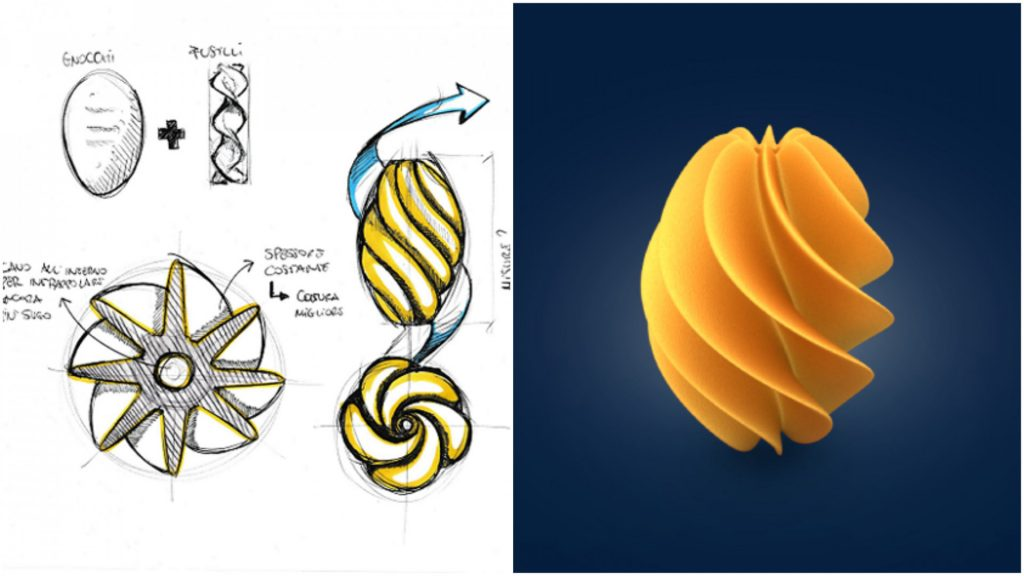 Anedda's Turbine took first place in the 3D printed pasta competition