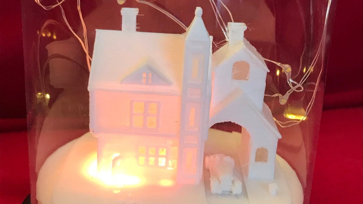 Build and 3D Print a Twitter-Enabled Christmas Snow Globe | All3DP