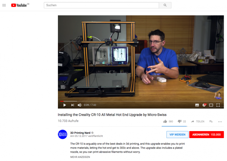Image of 3D Printing for Beginners - First Steps: Get Inspired by YouTube