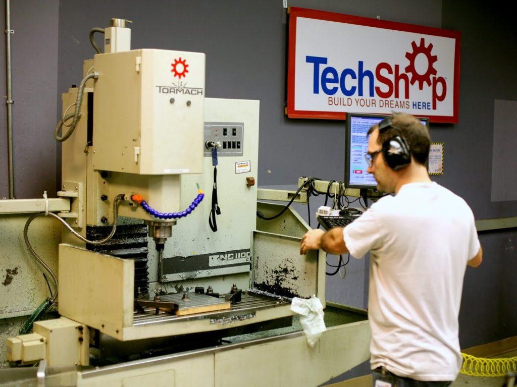 A CNC milling machine in a TechShop