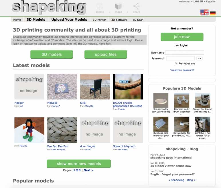 Image of Free STL Files, 3D Printer Models & 3D Printer Files: Shapeking