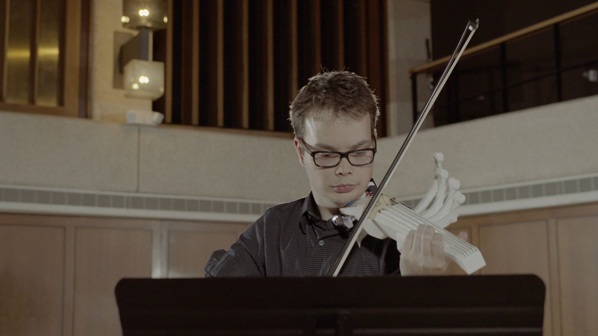 UT Grad Student Creates 3D Printed Six String Violin to Play Rare Composition | All3DP