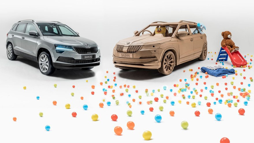 Škoda Celebrates New Launch with Laser Cut Cardboard SUV | All3DP