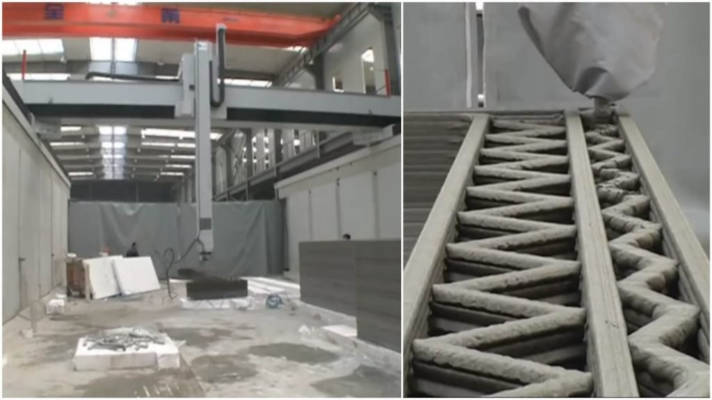 Standard 3D printing with concrete