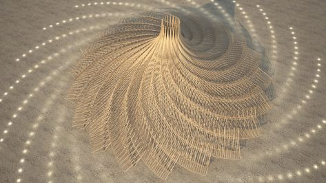 Featured image of Burning Man 2018 Temple to Feature 3D Printed Mandala