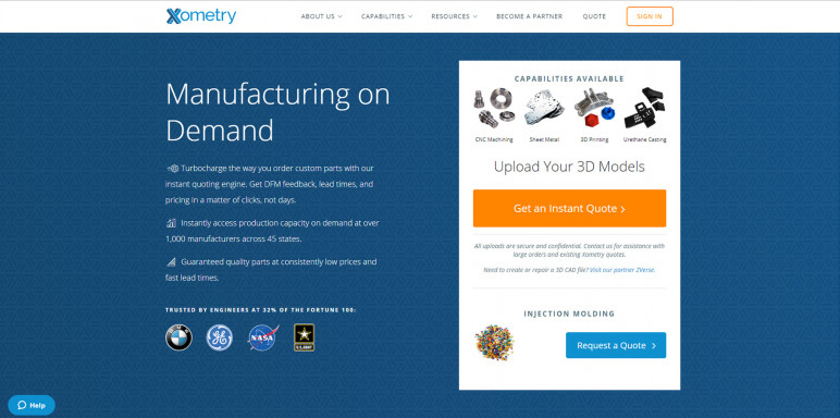 Image of Online 3D Printing Service: Xometry