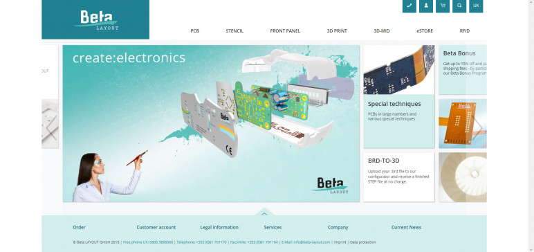 Image of Online 3D Printing Service: Beta Layout