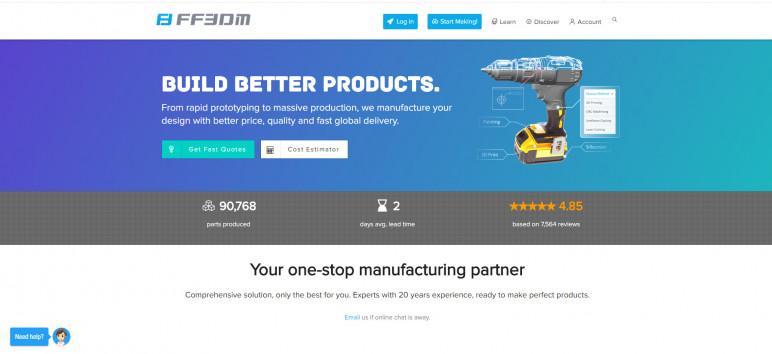 Image of Online 3D Printing Service: FF3DM
