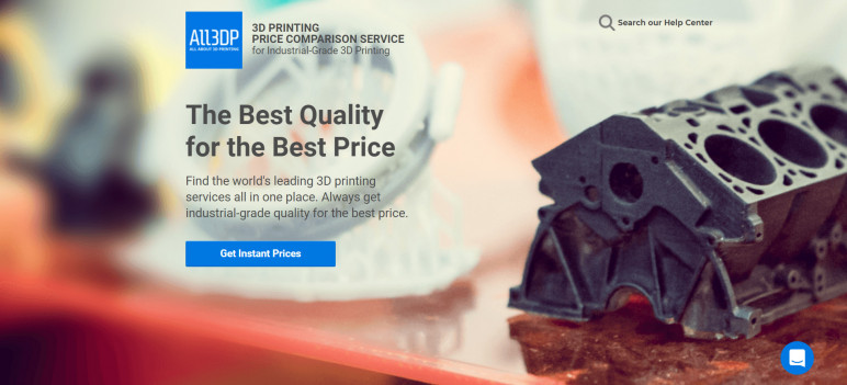 Image of Online 3D Printing Service: All3DP 3D Printing Price Comparison Service