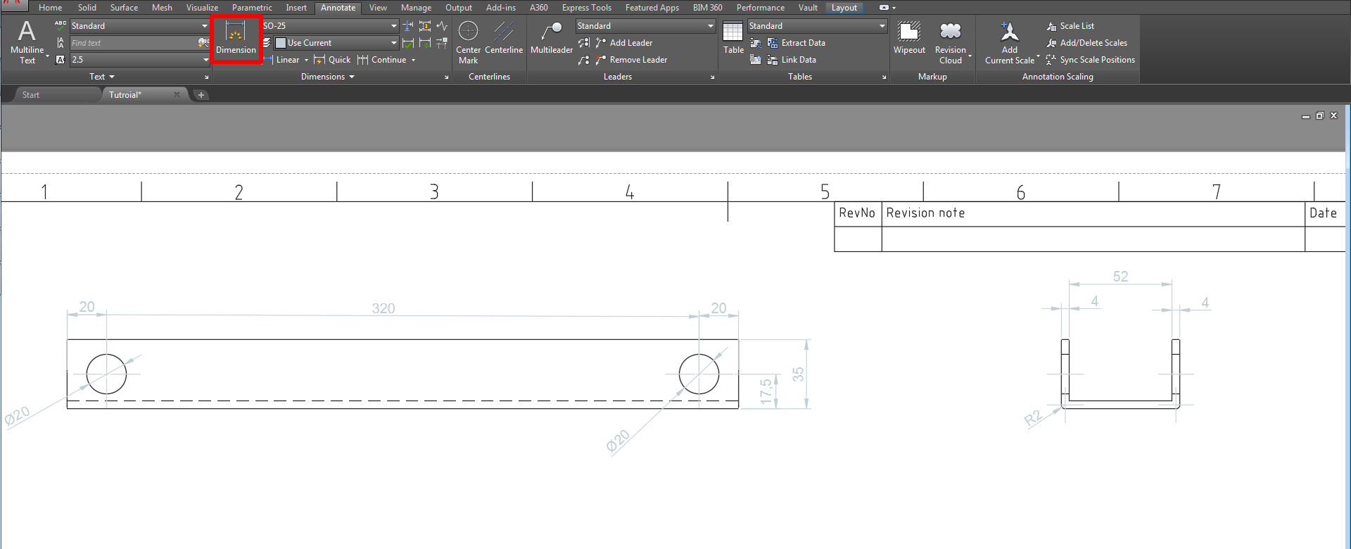autocad anotate