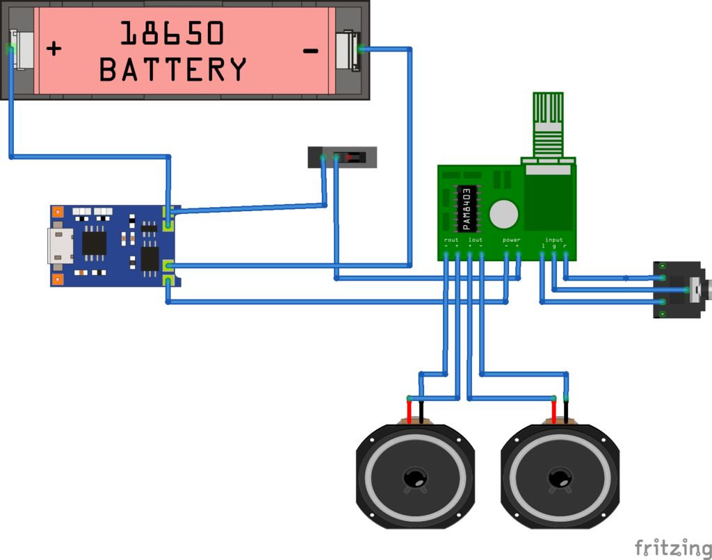Then, it's time to start the soldering process, which is done according to  the schematic provided below.