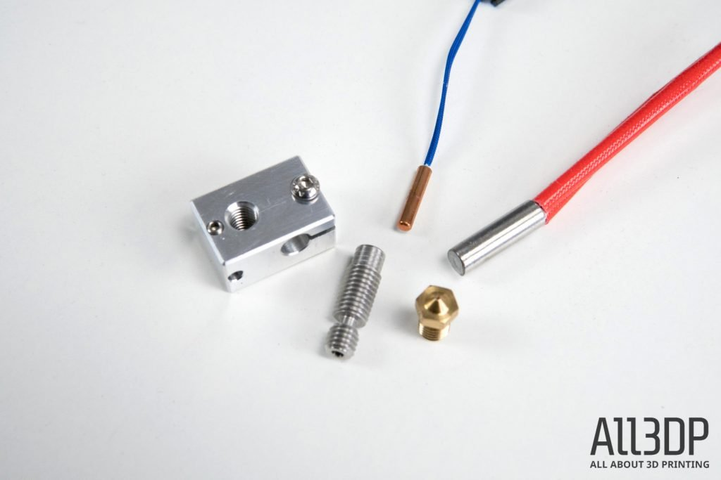 3d printer extruder guide heater block and its elements