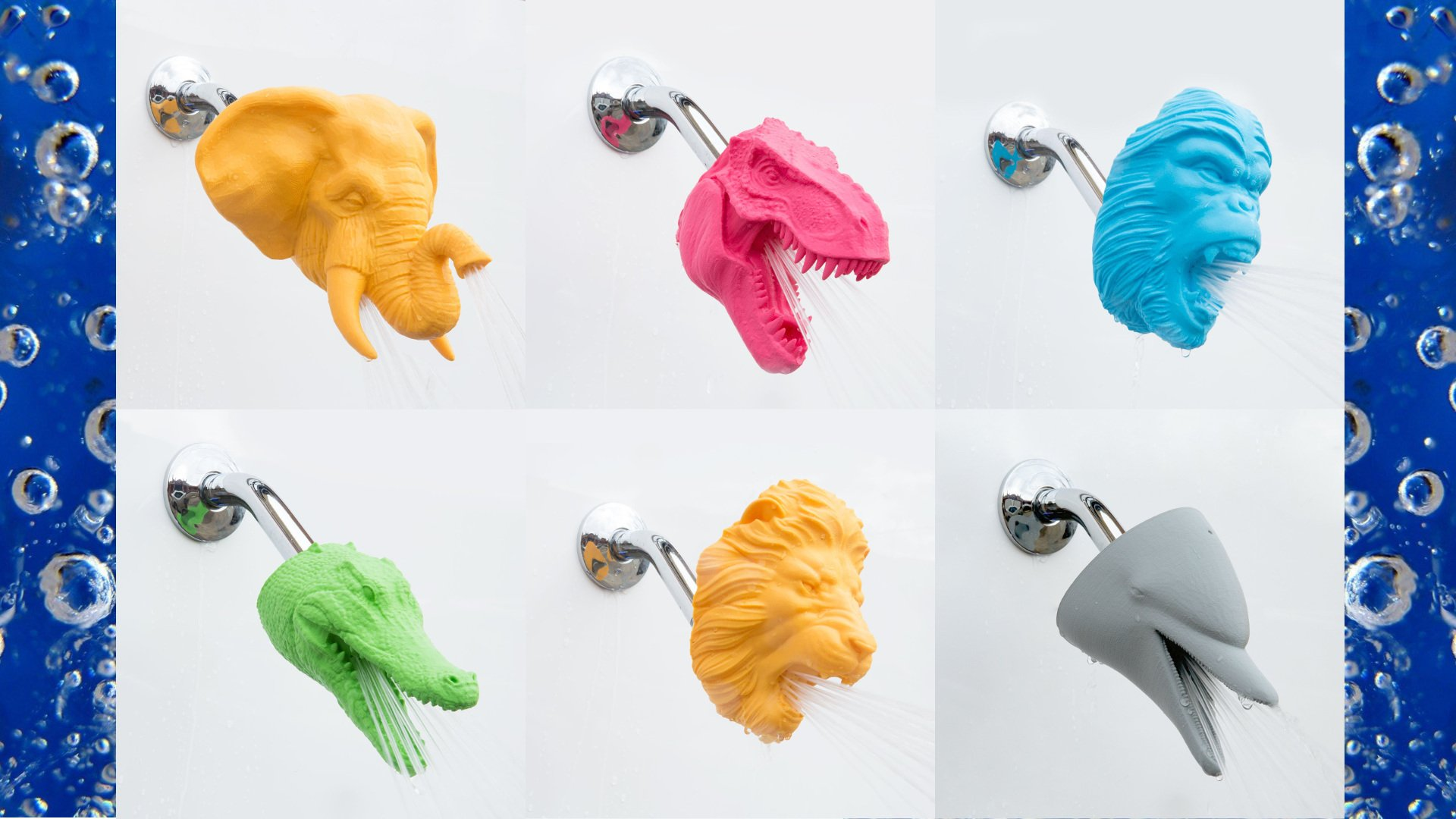 Shower with a 3D Printed Dolphin, Dinosaur or Dragon Head from Zooheads | All3DP