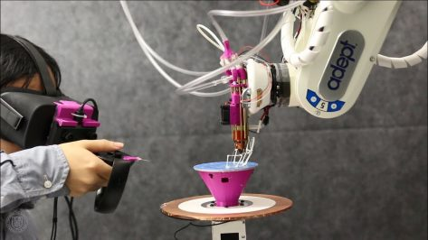 Featured image of Researchers Combine VR, CAD, and 3D Printing to Create the Robotic Modeling Assistant