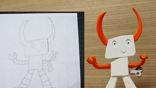Dad Turns his Kid's Drawing into a 3D Printed Toy | All3DP