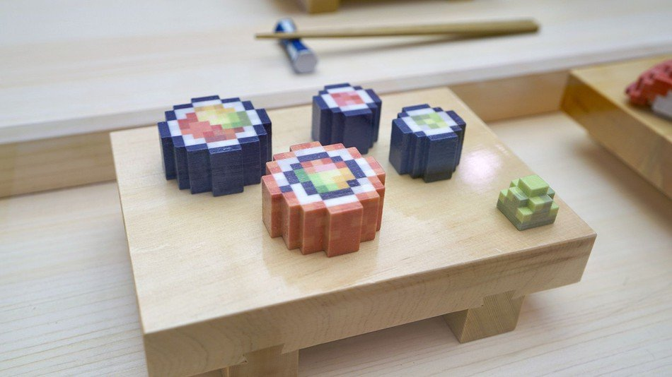 Live at SXSW: Open Meals Shows Off 3D Printed 8-Bit Sushi | All3DP