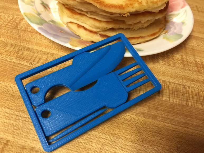 Image of Fun Things to 3D Print in an Hour (or Less): Credit Card Cutlery