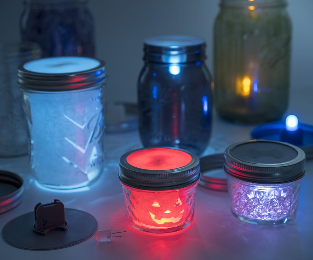 Project] Create Your Own 3D Printed LED Mason Jar Lanterns