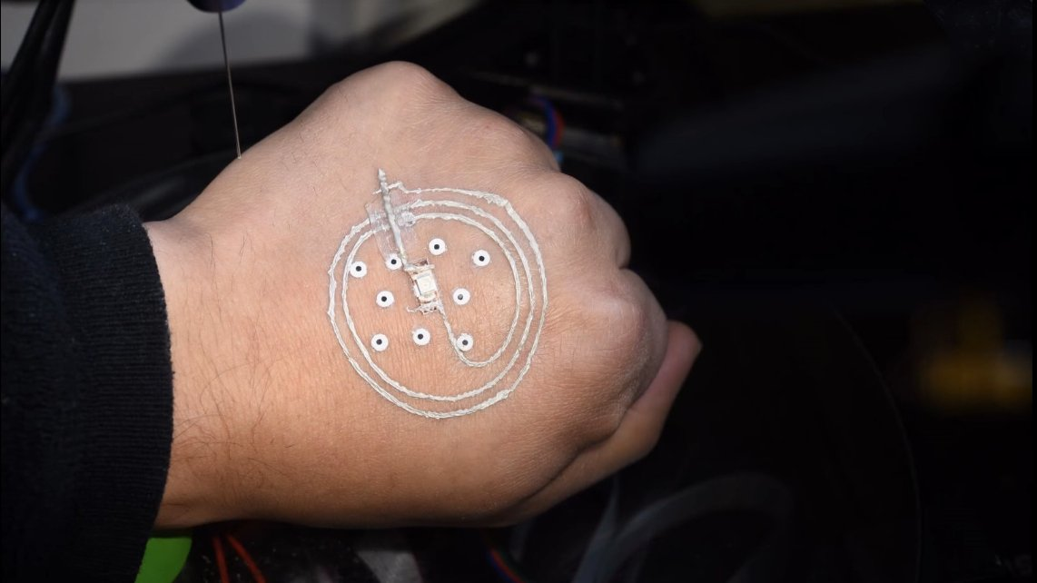 New Technique Can 3D Print Electronics Directly on Skin | All3DP