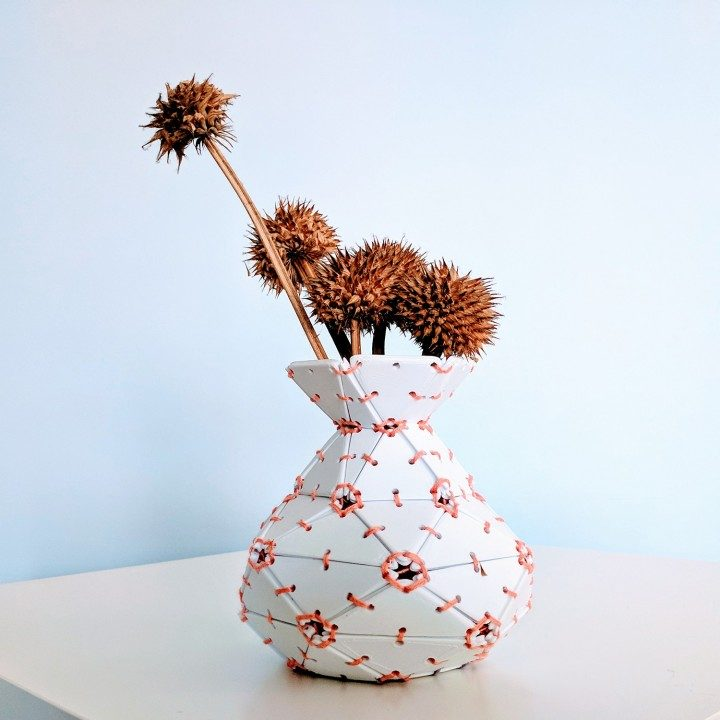 Clockspring's Lace-Up Tiled Vase