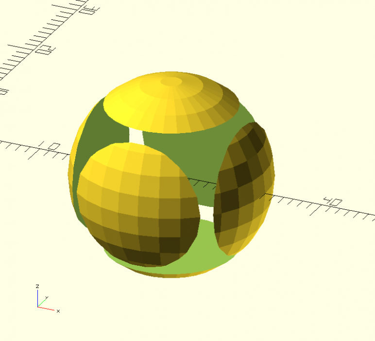 Image of: 4d. The CSG.scad Example: The Difference Operator