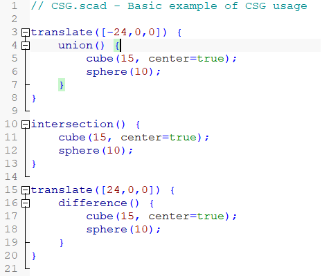 Image of: 4b. The CSG.scad Example: A Note on Syntax