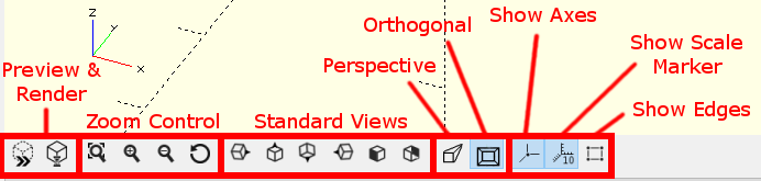 Image of: 2b. The OpenSCAD Interface: The Viewing Area