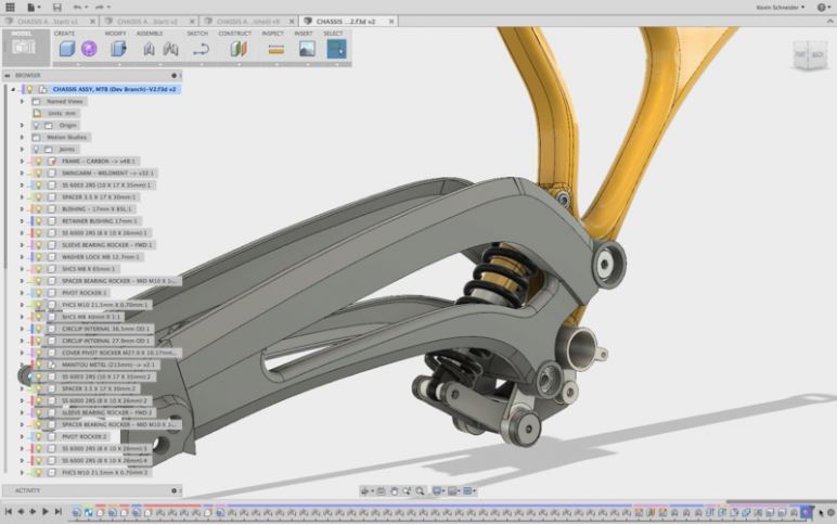 Fusion 360 assembly modeling