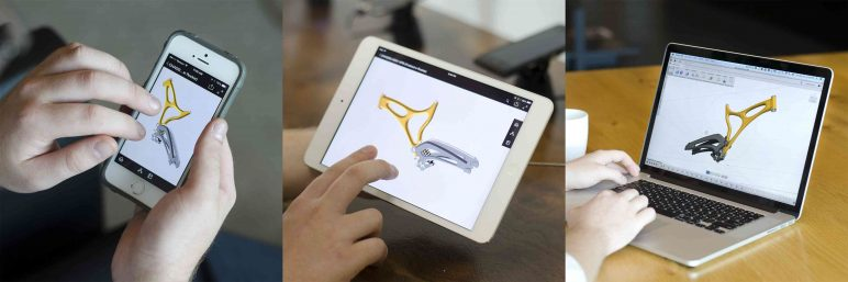 Fusion 360 data can be viewed on mobile devices