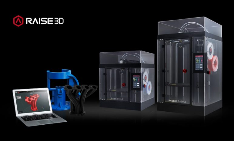 Image of Dual Extruder 3D Printer: Raise3D Pro2