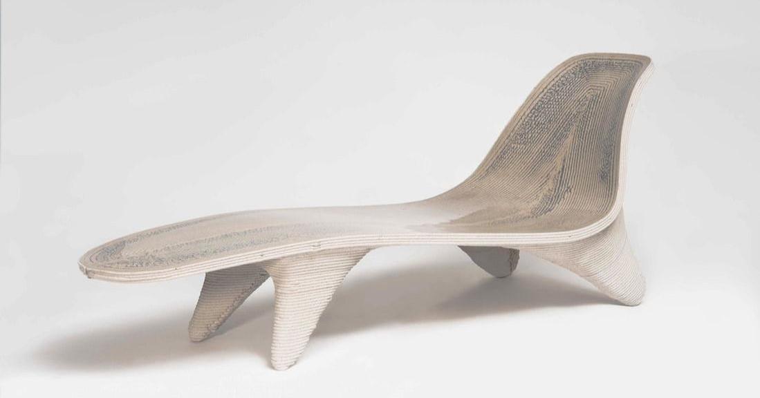 First 3D Printed Chaiselongue at Milan Design Week 2018 | All3DP