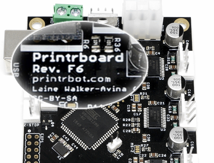 It's usually easy to identify a controller board by its silkscreen printing