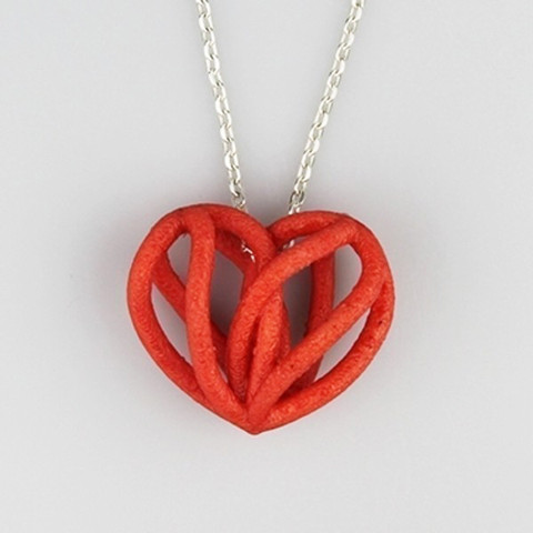 Image of Easy & Fun Things to 3D Print in an Hour (or Less): Spiral Heart Pendant