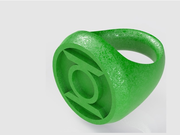 Image of Easy & Fun Things to 3D Print in an Hour (or Less): Green Lantern Ring