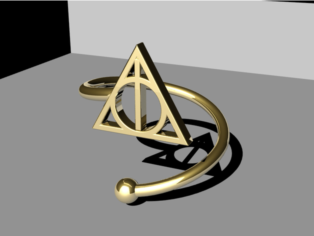 Image of Easy & Fun Things to 3D Print in an Hour (or Less): Deathly Hallows Ring
