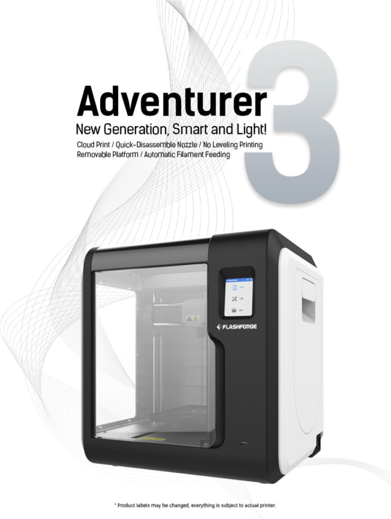 Image of ABS 3D Printer: Flashforge Adventurer 3