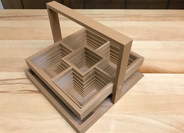 Image of Objets 3D utiles à imprimer en 3D: Panier carré relevable