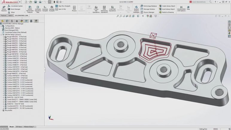 Image of Best CAM Software for SolidWorks, AutoCAD & Co: SolidWorks CAM
