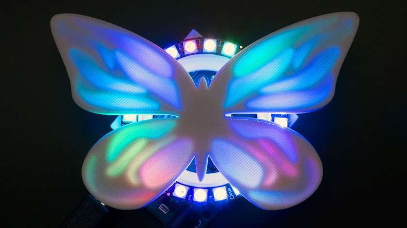[Project] 3D Printed NeoPixel Butterfly Ring That Flutters with Light | All3DP