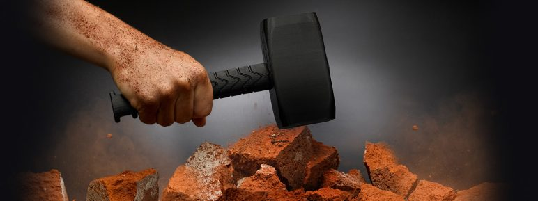 Hammer made from nylon