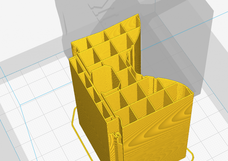 What 10% density looks like in Cura