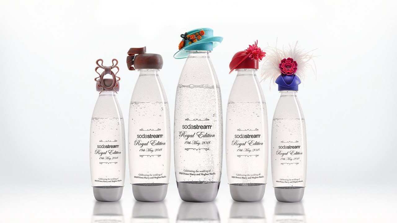 SodaStream Creates 3D Printed Bottle Hats for Royal Wedding Charity Auction | All3DP