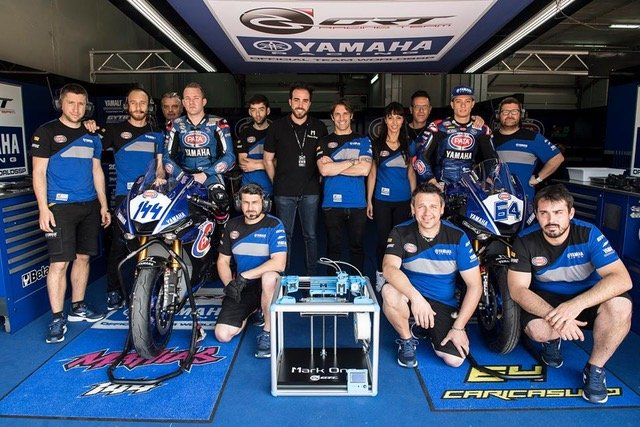 Yamaha's Bike Racing Team Uses Mark One 3D Printers Inside The Pit Box | All3DP